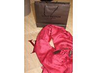 Luxury Louis Vuitton dark red Scarf /Shawl - brand new