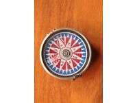 Beautiful NEW Collectable Bronze Pocket Compass Nautical Bold Modernist Pattern Christmas Gift
