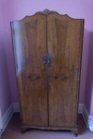 Antique Vintage Bedroom Set- 2 x Wardrobes, Dressing Table, Double Bed