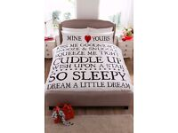 King Size Mine & Yours Duvet Set