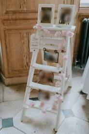 Gorgeous White Display Ladder Wedding?