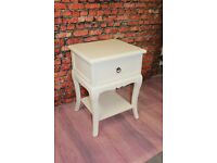 Stunning Ornate White French Shabby Chic Bedside table/drawers