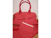 NEXT Red and White Spotty Changing Bag (Only used once)