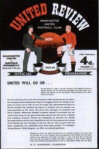 * 1958 - 1st GAME AFTER MUNICH DISASTER- MAN UTD v SHEFFIELD WEDNESDAY  *