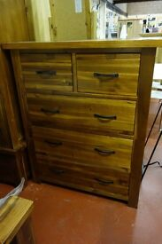 New Very Large Solid Dark 2 over 3 drawer chest of drawers LAST ONE
