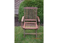 Patio chair wooden