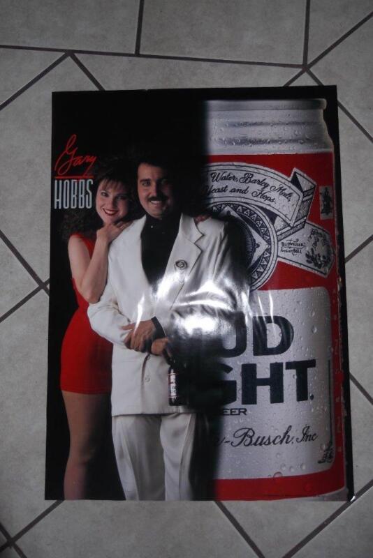1989 GARY HOBBS BUD LIGHT POSTER 20x28 Vintage #1