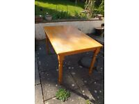 Pine wood dining table and chairs, good upcycling project