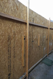 Used 9 OSB Boards 2440 x 1220mm x 12m and 50x 25mm timber supports £40