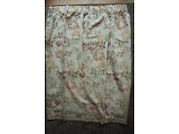 """Curtains For Sale, Floral Design 72"""" wide x 53"""" drop"""