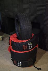 Kumho I'zen KW27 245/45 r18 winter tyres m+s 100v set of 4 + cover bags