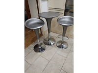 Magis Bombo table + 2 chairs set (genuine & original) in silver