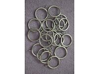 20 heavy metal curtain rings for up to 30mm diameter curtain poles