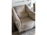Brown and cream armchairs - Quick Sale