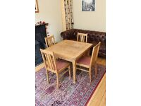 Imperial Solid Wood Extending Dining Table & 4 Chairs