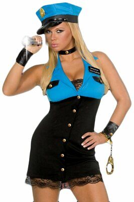SEXY Halloween COSTUME Cop DETECTIVE TERRI GATION Police Adult Naughty Cosplay M
