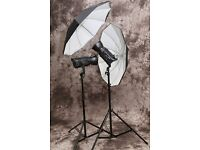 Bowens Gemini 400RX Kit (2 strobes, stands, umbrella and case)