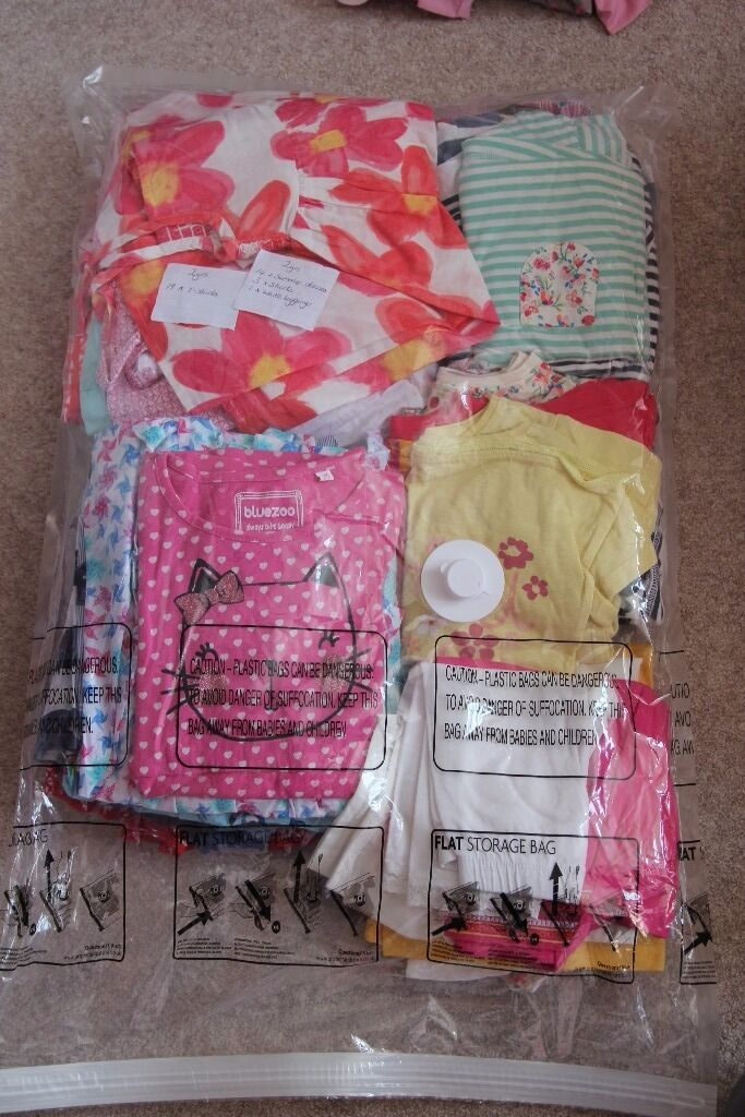 Selection of summer clothes for girls 2 years (14 summer dress, 19 t shirts, 3 shorts, 1 leggingsin FalkirkGumtree - Bundle includes 14 x summer dresses 19 x t shirts 3 x shorts 1 x white leggings All for girls age 2years. From smoke and pet free home