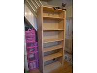 Large Home Office Light Oak/Pine Effect Bookcase