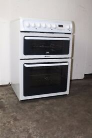 Hotpoint White 60cm Ceramic Top Cooker/Oven Digital Display Excellent Condition 12 Month Warranty