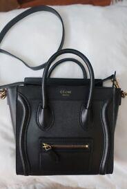 Used Celine Nano Luggage bag black