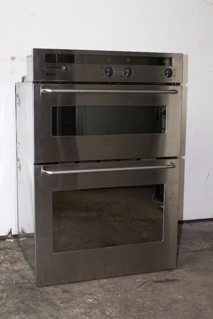 Bosch Built-In Double Oven/Cooker Digital Display Good Condition 12 Month Warranty