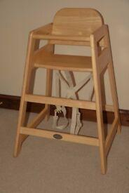 Kiddicare wooden high chair