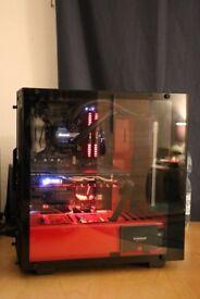Gaming PC i7-7700k,gtx1080,16gb,H100iv2 AIO,512GB SSD,1TB HDD, Platinum PSU...