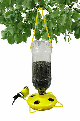 Gadjit Soda Bottle Wild Thistle Bird Feeder Kits Yellow Pack of 2