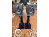 Q Acoustic 2020i speakers with stands