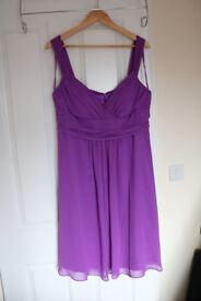 BNWT Debut Lilac Evening/Prom Babydoll Ruched Dress - Size 16