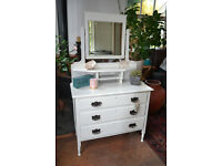 Vintage White Dressing Table with mirror