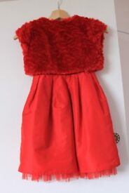 Lovely Girls Red Party Dress with Shrug