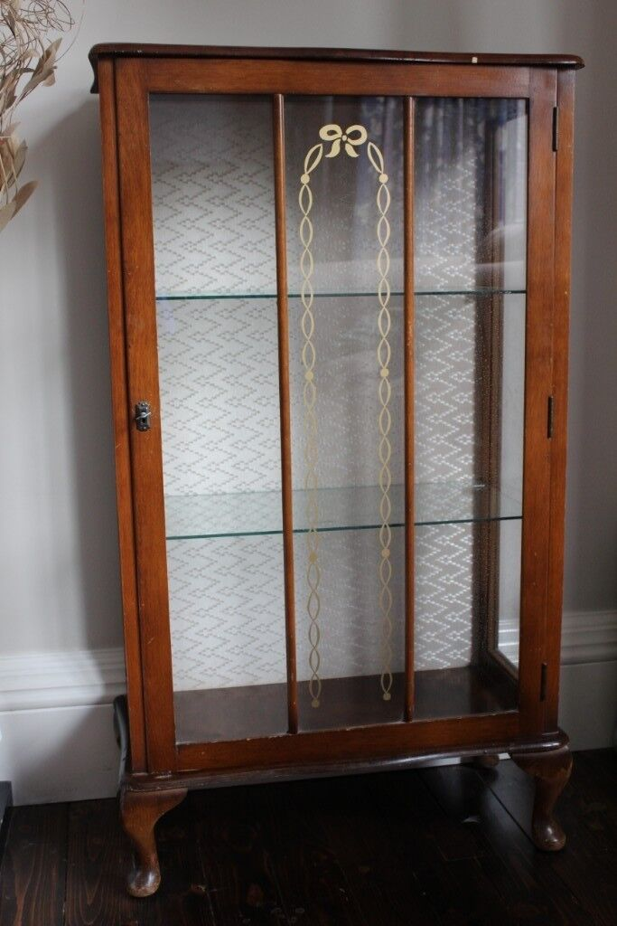 Vintage Glass Door Display Cabinet In Musselburgh East Lothian