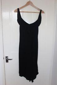 Kookai Black Dress with Ruffle Detail, size 2 (10/12) - Worn once!
