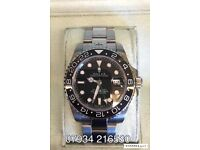 Rolex GMT master 2 black luxury automatic watch avation oyster brand new in Swiss box