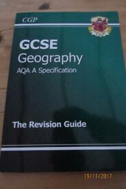 CGP. GCSE Geography AQA A Specification. The Revision Guide. VGC. £3.99. Torquay or can post.