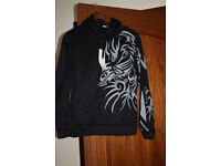 NEW Men's tattoo print Hoodie Hooded Sweatshirt Coat Jacket Outwear Sweater