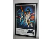 Original Star Wars Poster Signed By Dave Prowse (Darth Vader)