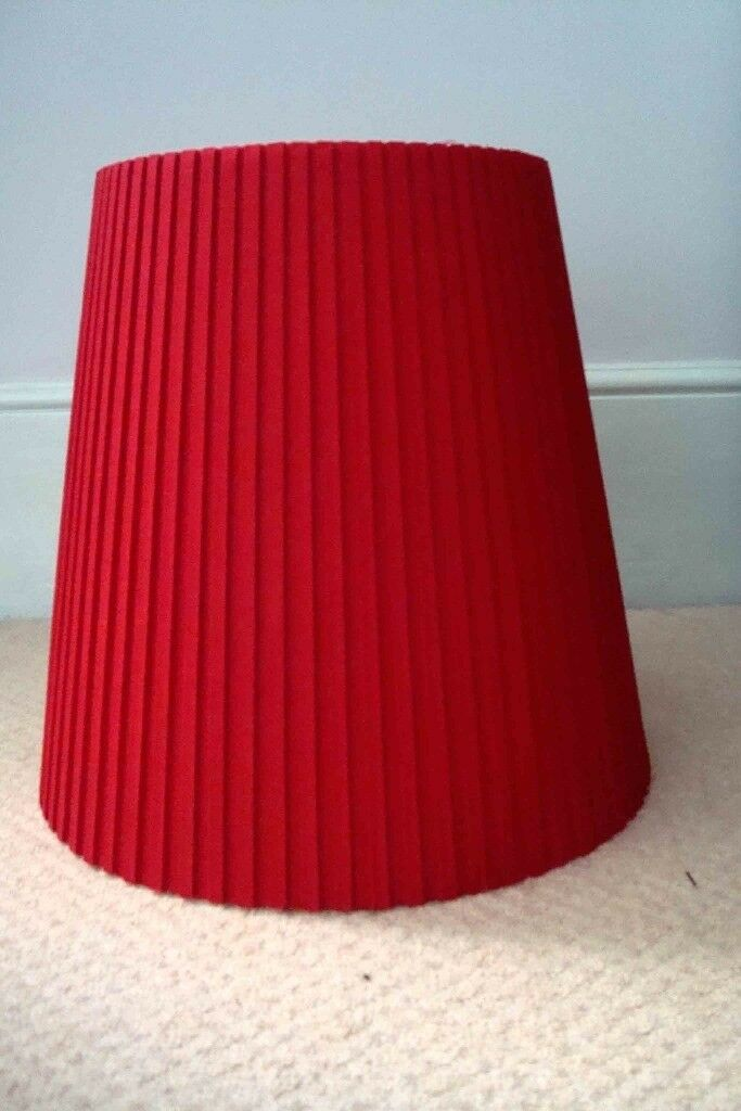 Hand made red pleated cotton lamp shade in south east london hand made red pleated cotton lamp shade aloadofball Image collections