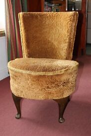 Vintage Bedroom / Nursing Chair, Gold Material with raised Nap