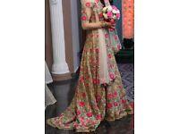 Beautiful *Swaroski crystal* Floral wedding dress.