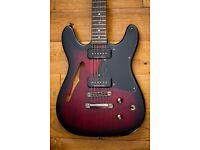 Fender TC-90 Telecaster, Thinline, Semi Hollow Guitar, Cherry burst.