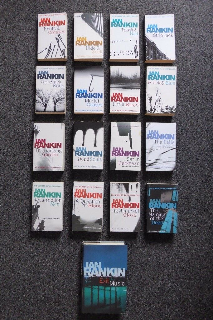 Set of 17 Ian Rankin Inspector Rebus Novels - Crime Books Collection - Assorted Mix of New & Read