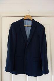 Charles Tyrwhitt - 100% Wool Blue Suit Jacket - 38L