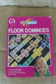 Galt Toys Floor Dominoes, Double Sided Pictures/Dots, Wipe Clean, Picture & Number Matching, Histon