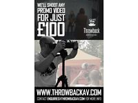 £100 Video Production Offer for Businesses, Charities, Musicians and Everyone Else!