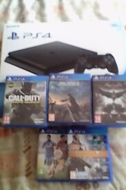 PS4 slim with 10games bundle