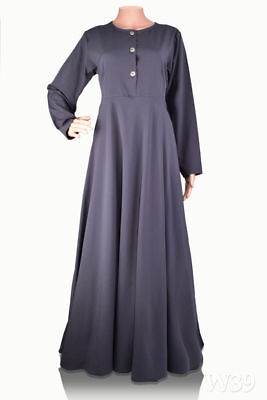 Womens Modest Dress Plain Abaya Burqa Kaftan Farasha. Jilbab Ladies Maxi Dress