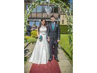 Beautiful Ivory berketex size 14 wedding dress